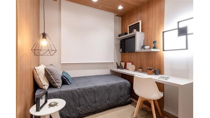 Foto do dormitório do decorado