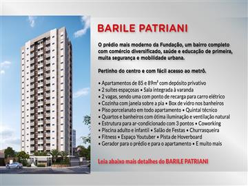 Ref: Barile Patriani 3 dormitórios e SCS Fundaçao Negocie direto com a construtora.