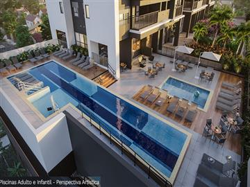 Penha Home Resort 2 dormitórios 1 suíte varanda com churrasqueira a carvão